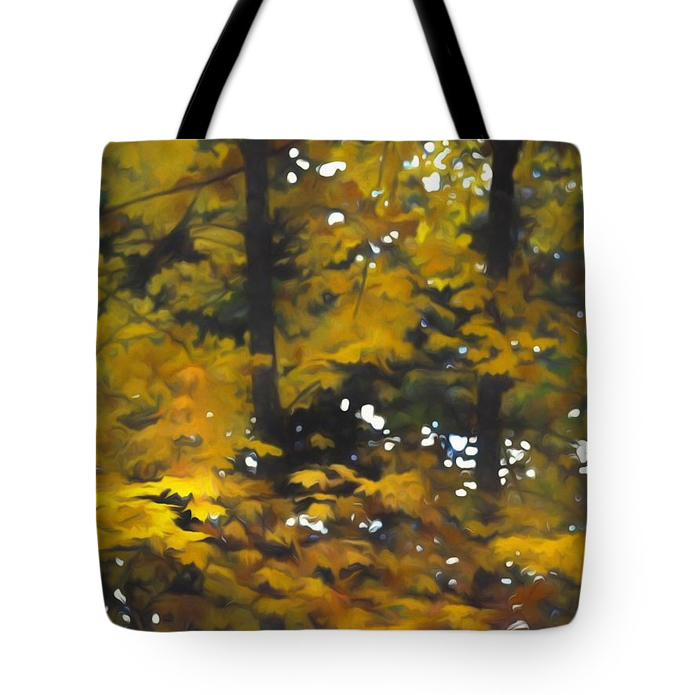Fall Yellow Trees - Tote Bag - expressive-flower-art-goods.myshopify.com