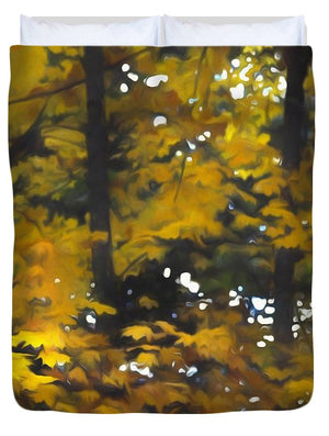 Fall Yellow Trees - Duvet Cover