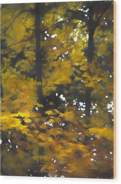 Fall Yellow Trees - Wood Print