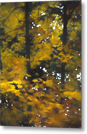 Fall Yellow Trees - Metal Print - expressive-flower-art-goods.myshopify.com