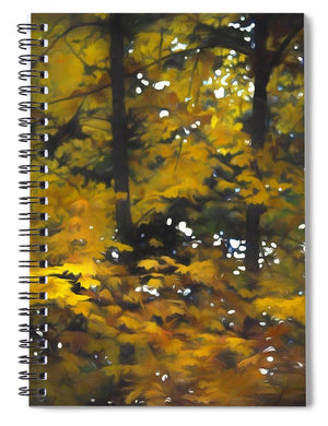 Fall Yellow Trees - Spiral Notebook - expressive-flower-art-goods.myshopify.com