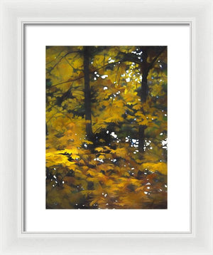 Fall Yellow Trees - Framed Print