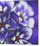 Purple And White Flowers - Wood Print