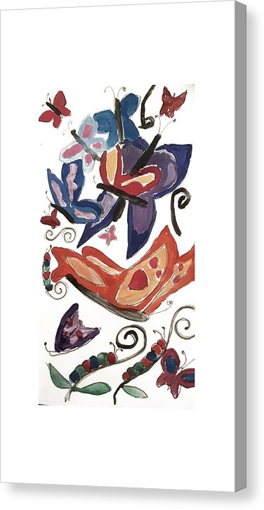 Watercolor Butterflies - Canvas Print