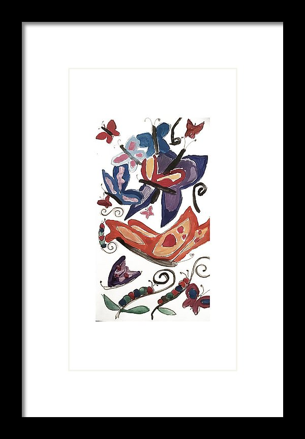 Watercolor Butterflies - Framed Print