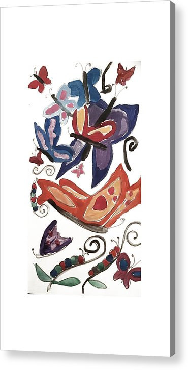 Watercolor Butterflies - Acrylic Print