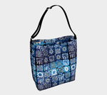 Blue Ice Crystals Day Tote