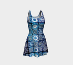 Blue Ice Crystals Flare Dress