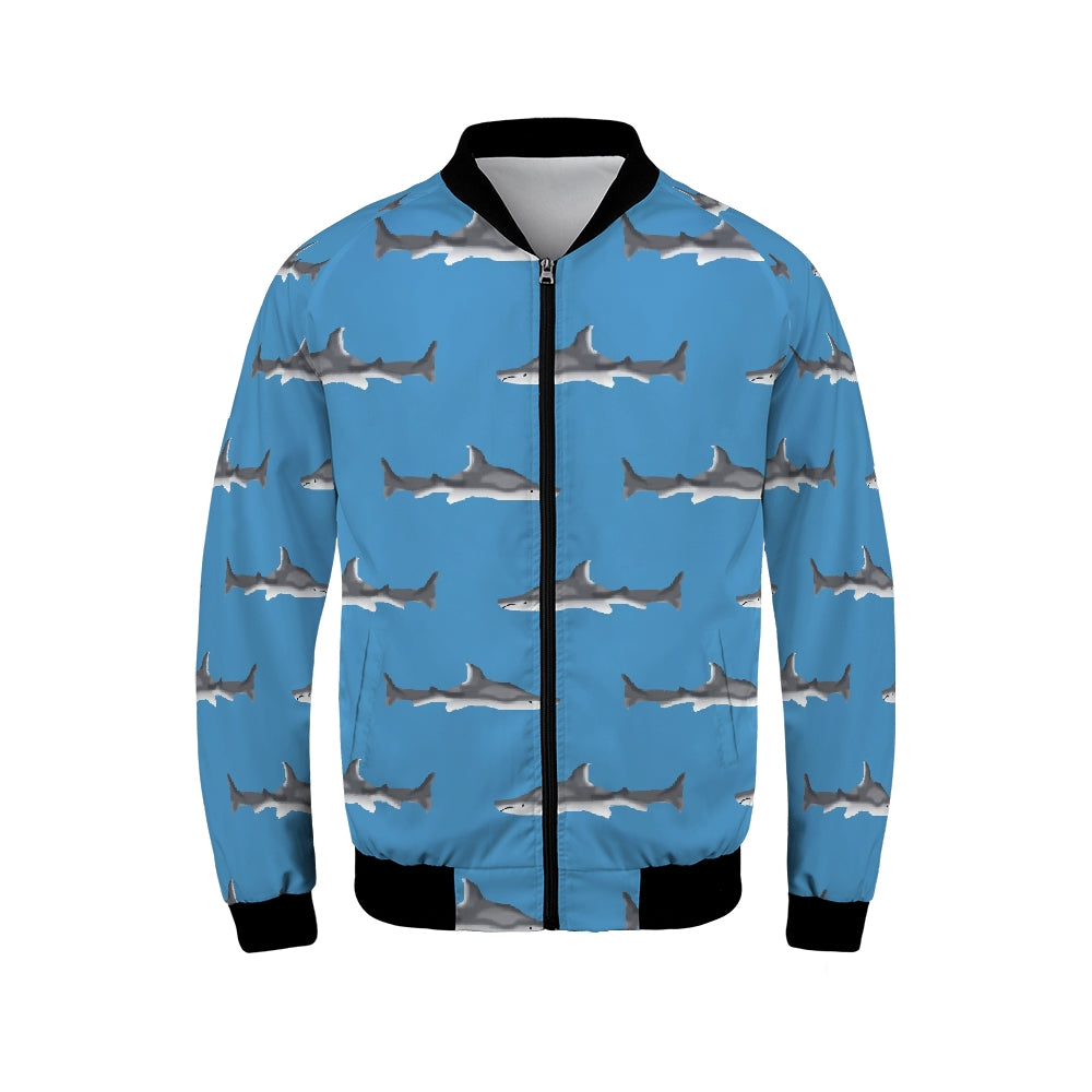Shark Pattern Men's Bomber Jacket