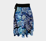 Blue Ice Crystals Wrap Skirt