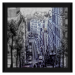 Vintage Paris Street From Above Framed Canvas