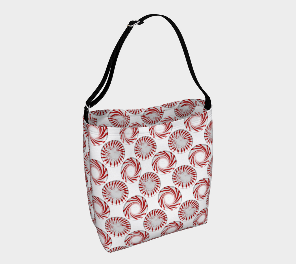 Peppermint Candy Dots Day Tote
