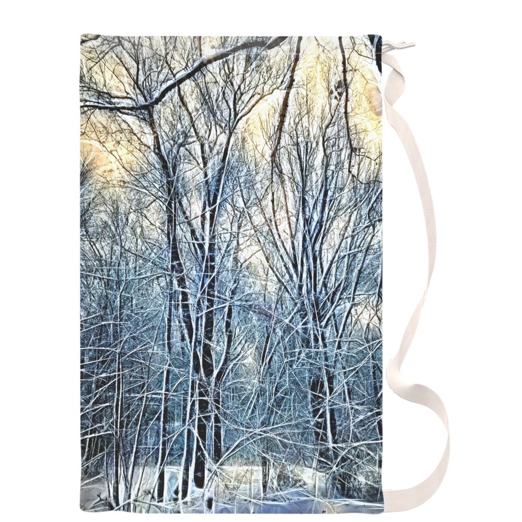 Winter Landscape Laundry Bags