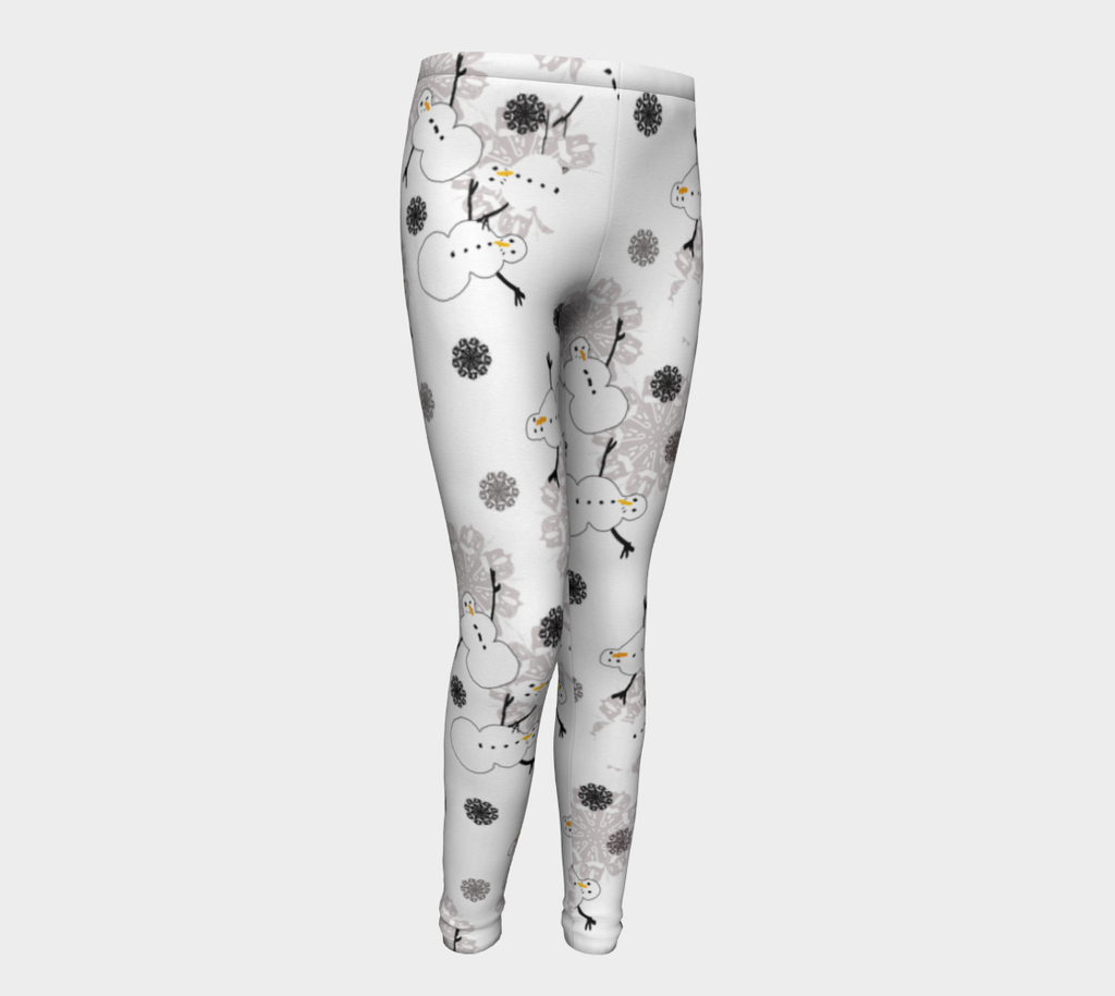 Snowman Pattern Youth Leggings