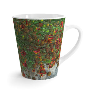 Orange Flower Garden Latte mug