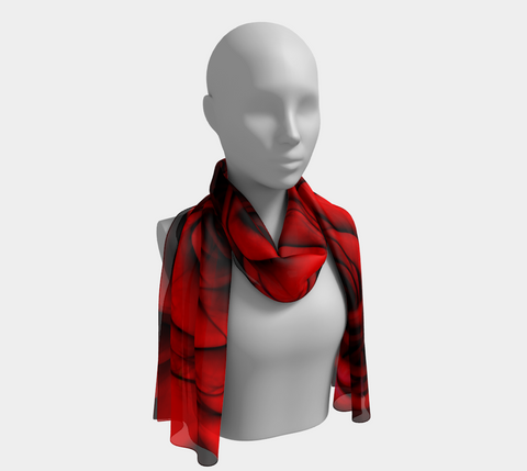 Reddest Rose Long Scarf