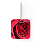 Orecchini in Lega Argentata An Open Red Rose Earrings - expressive-flower-art-goods.myshopify.com