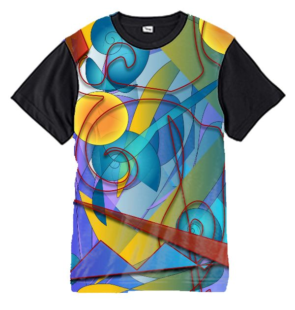 Geometry Collage Blacksleeve T-Shirt