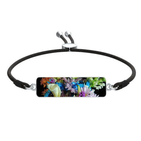 Flowers 292 Rectangle Corded Bracelet