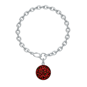 Red Chili Peppers Collage Charm Bracelet