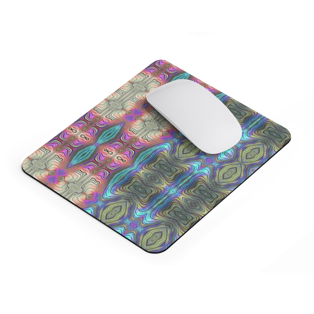 Mystic Blue With Pink Mousepad