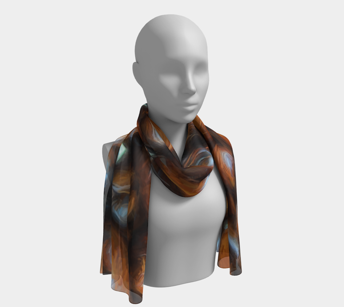 Coffee Beans Long Scarf