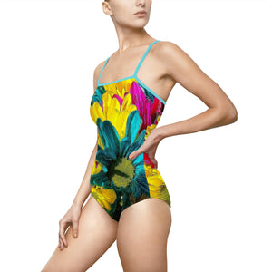Colorful Daisies Women's One-piece Swimsuit