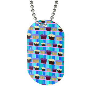 Cupcakes Dog Tag Necklace