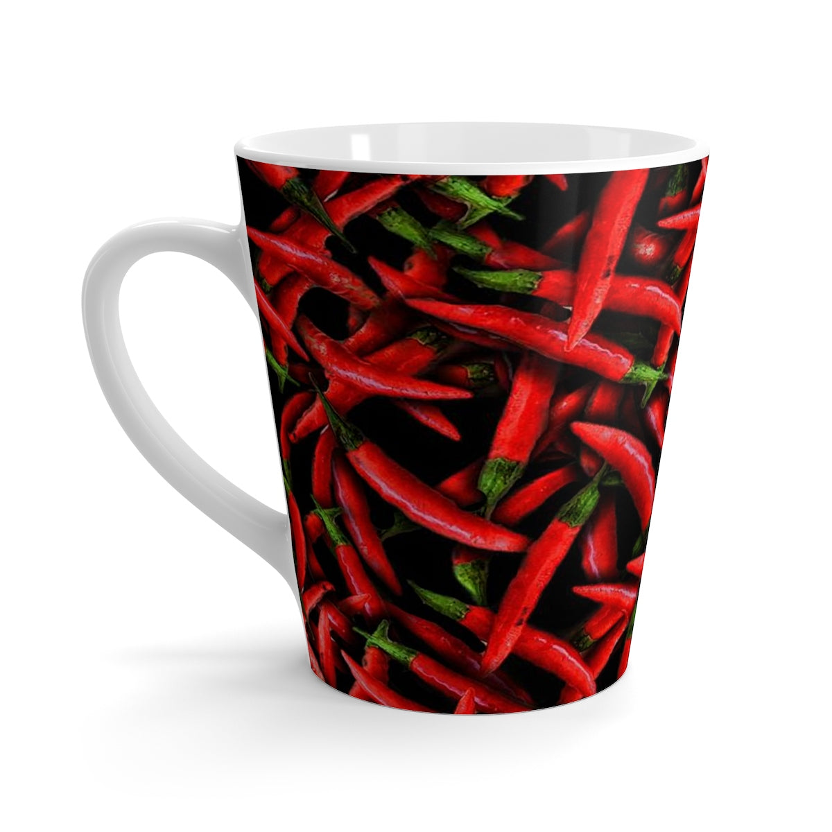 Red Chili Peppers Latte mug