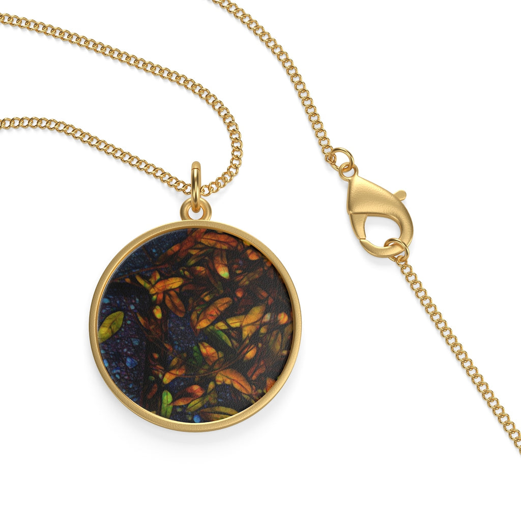 Sidewalk Leaves Single Loop Necklace - expressive-flower-art-goods.myshopify.com