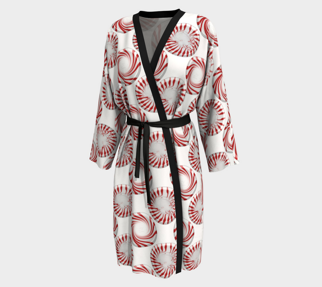 Peppermint Candy Dots Robe