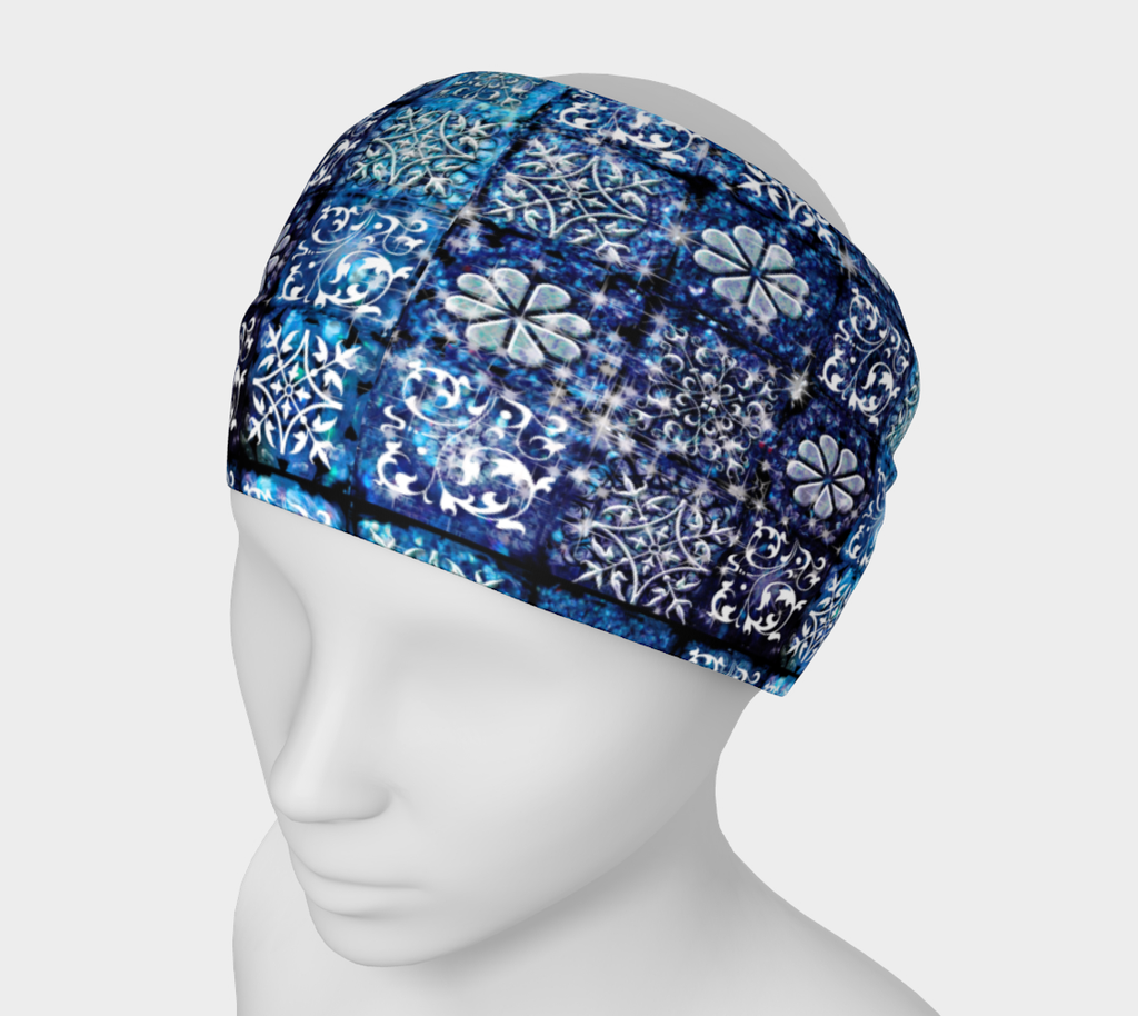 Blue Ice Crystals Headband