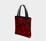Red Dragon Scales Tote Bag