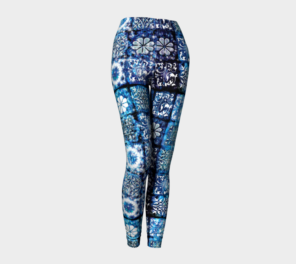 Blue Ice Crystals Leggings
