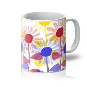 Red Yellow Blue Sunflowers Mug - expressive-flower-art-goods.myshopify.com