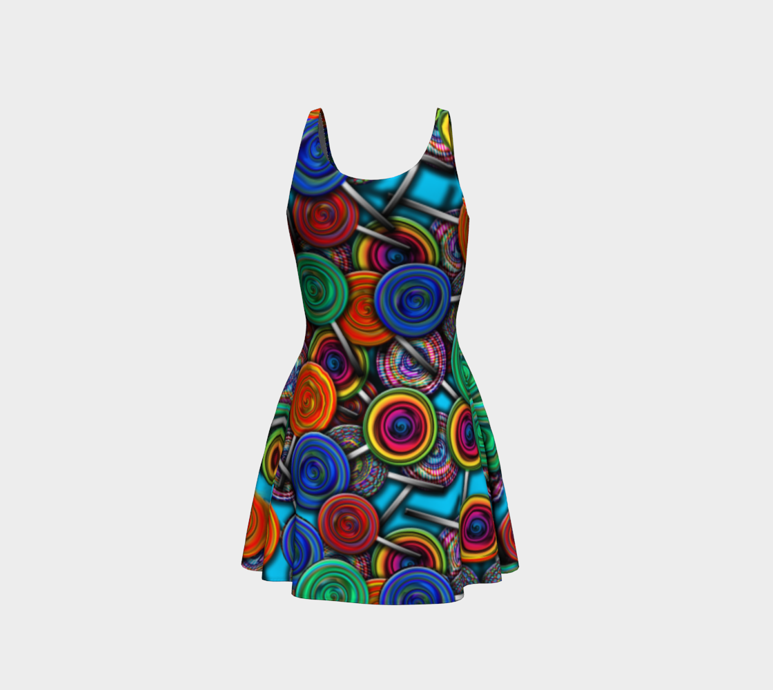 Colorful Lollipops Flare Dress