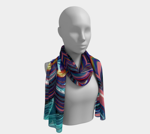 Triangle Stripes Long Scarf