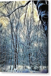 4 Oclock Winter Landscape - Canvas Print