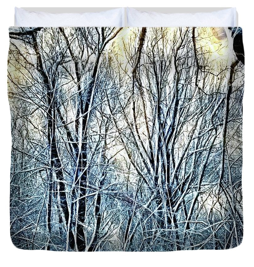 4 Oclock Winter Landscape - Duvet Cover