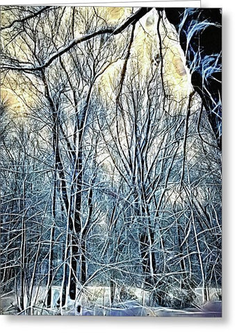 4 Oclock Winter Landscape - Greeting Card