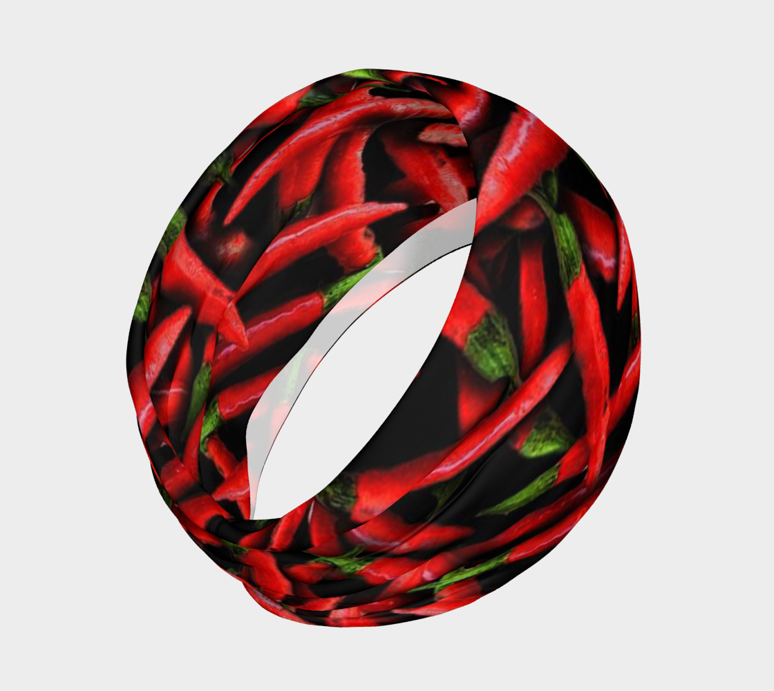 Red Chili Peppers Collage Headband