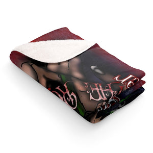 My love Found Me Under a Rose Tree Sherpa Fleece Blanket
