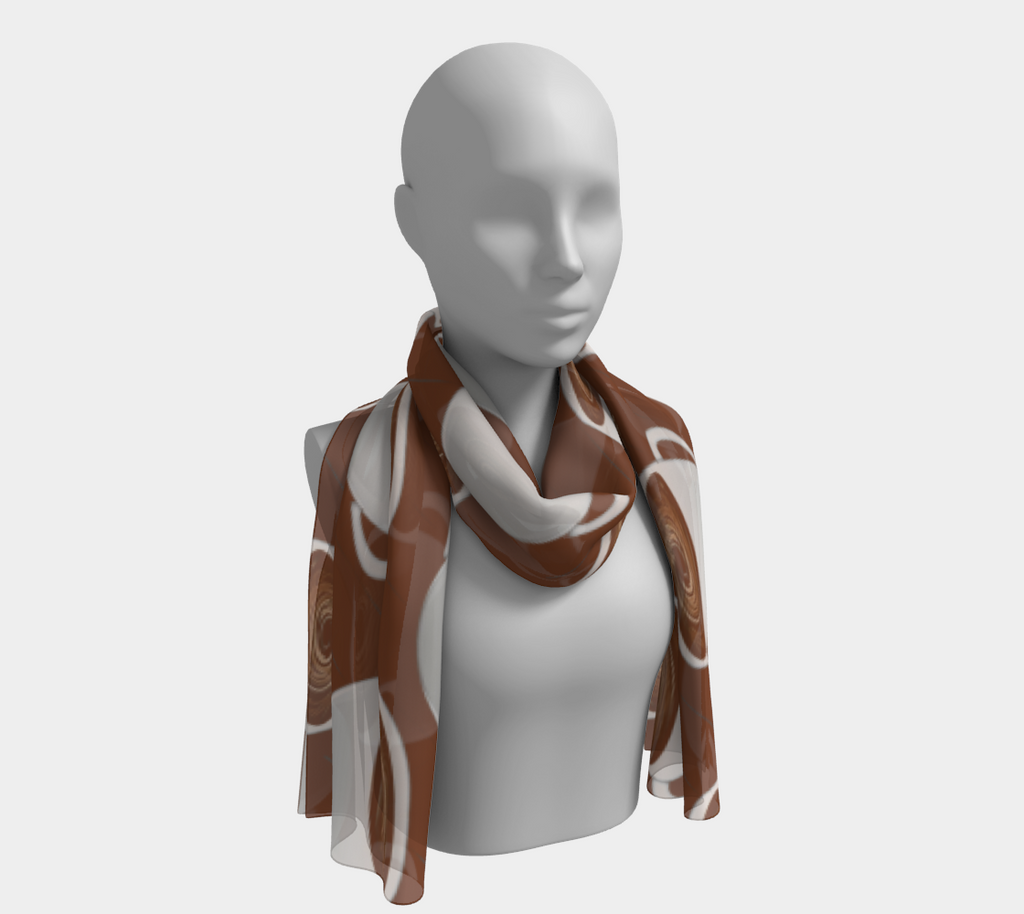 Coffee On Coffee Long Scarf