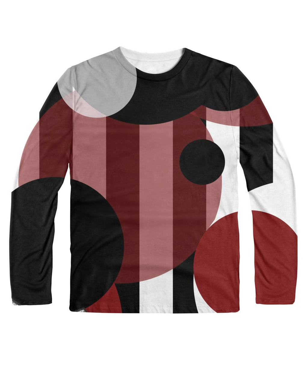 Black White Stripes Dots Longsleeve Sublimation Long Sleeve