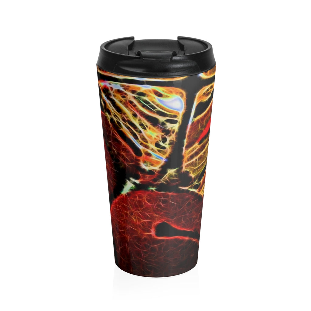 Jingle Bells Abstract Stainless Steel Travel Mug - expressive-flower-art-goods.myshopify.com