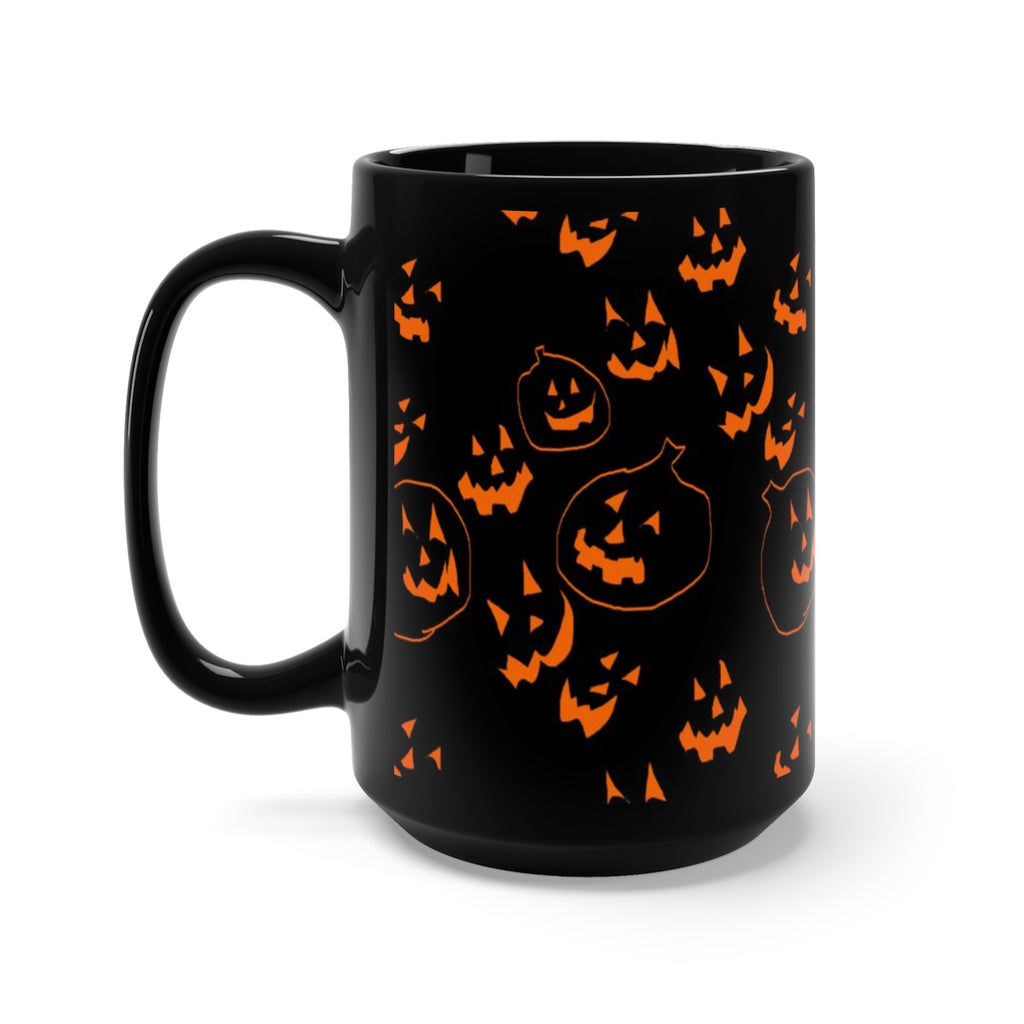 Jack O Lanterns Black Mug 15oz