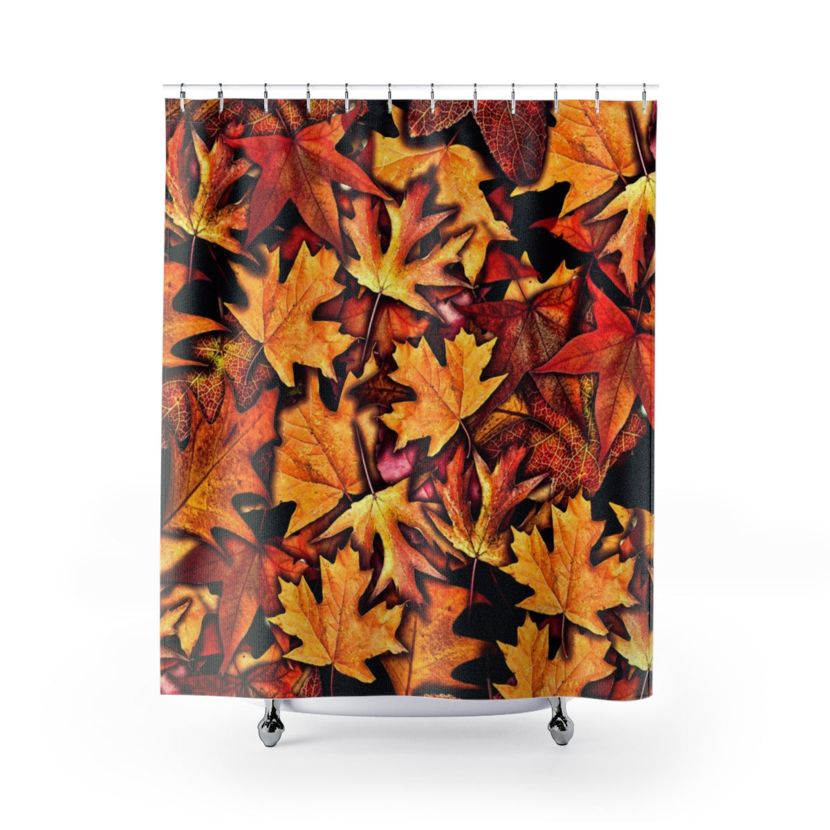 Fall Leaves Collage Shower Curtains