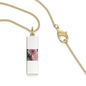 Three Pink Pastel Daisies Single Loop Necklace