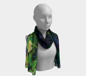 Lotus Blossoms in Bloom Long Scarf