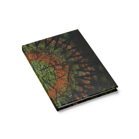Ancient Green Crackle Sun Journal - Blank